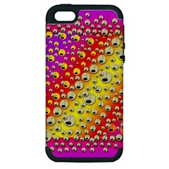 Festive Music Tribute In Rainbows Apple Iphone 5 Hardshell Case (pc+silicone)