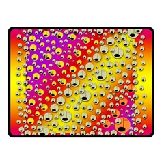 Festive Music Tribute In Rainbows Double Sided Fleece Blanket (small)