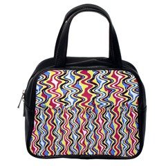 Colorful Tropical Waves Created By Flipstylez Designs Classic Handbags (one Side)