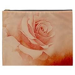 Wonderful Rose In Soft Colors Cosmetic Bag (xxxl)