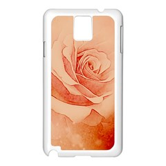 Wonderful Rose In Soft Colors Samsung Galaxy Note 3 N9005 Case (white) by FantasyWorld7