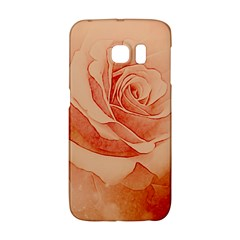 Wonderful Rose In Soft Colors Samsung Galaxy S6 Edge Hardshell Case by FantasyWorld7