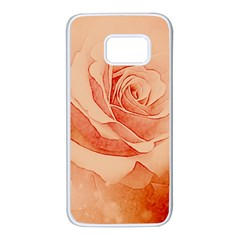 Wonderful Rose In Soft Colors Samsung Galaxy S7 White Seamless Case by FantasyWorld7