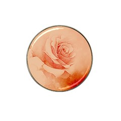 Wonderful Rose In Soft Colors Hat Clip Ball Marker (4 Pack) by FantasyWorld7