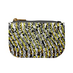 Bright Gold Black And White Waves Created By Flipstylez Designs Mini Coin Purses
