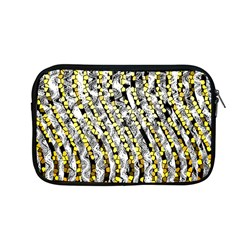 Bright Gold Black And White Waves Created By Flipstylez Designs Apple Macbook Pro 13  Zipper Case by flipstylezdes