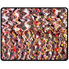 Pink And Gold Black And White Waves Created In Many Layers By Flipstylez Designs Fleece Blanket (medium)