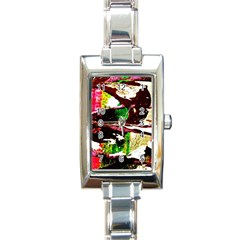 Easter 3 Rectangle Italian Charm Watch