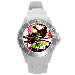 Easter 3 Round Plastic Sport Watch (l)