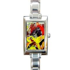 2 Rectangle Italian Charm Watch