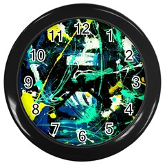 Brain Reflections 3 Wall Clock (black)