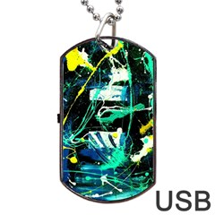 Brain Reflections 3 Dog Tag Usb Flash (two Sides) by bestdesignintheworld