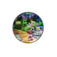 Lilac On A Countertop 2 Hat Clip Ball Marker