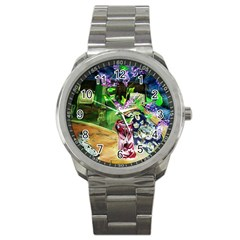 Lilac On A Countertop 2 Sport Metal Watch