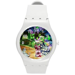 Lilac On A Countertop 2 Round Plastic Sport Watch (m)