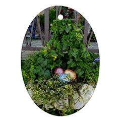 Easter On Balboa Ornament (oval)