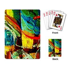 Red Aeroplane 6 Playing Card