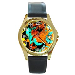 Fragrance Of Kenia 2 Round Gold Metal Watch