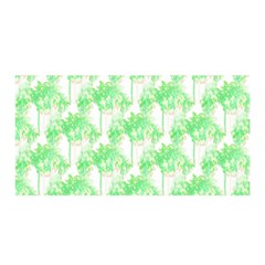 Palm Trees Green Pink Small Print Satin Wrap