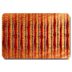Seamless Blue Green Red And Orange Design Created By Flipstylez Designs  Large Doormat