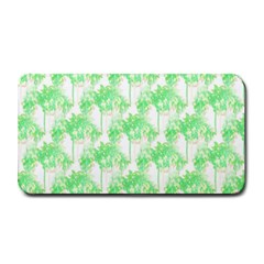 Palm Trees Green Pink Small Print Medium Bar Mats