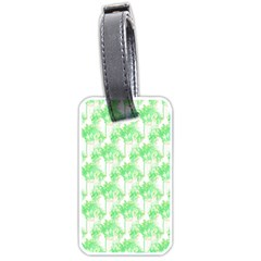 Palm Trees Green Pink Small Print Luggage Tags (two Sides)
