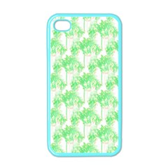 Palm Trees Green Pink Small Print Apple Iphone 4 Case (color)