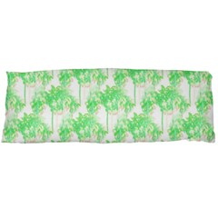Palm Trees Green Pink Small Print Body Pillow Case Dakimakura (two Sides)