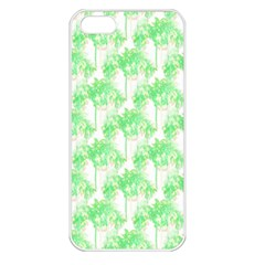 Palm Trees Green Pink Small Print Apple Iphone 5 Seamless Case (white)