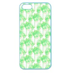 Palm Trees Green Pink Small Print Apple Seamless Iphone 5 Case (color)