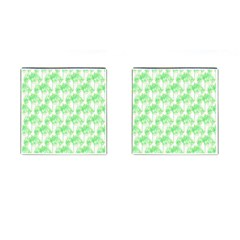 Palm Trees Green Pink Small Print Cufflinks (square)