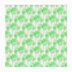 Palm Trees Green Pink Small Print Medium Glasses Cloth (2 Side)