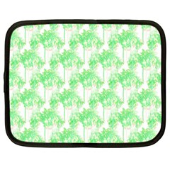 Palm Trees Green Pink Small Print Netbook Case (large)