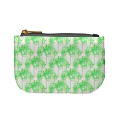 Palm Trees Green Pink Small Print Mini Coin Purses