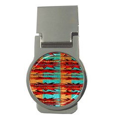 Exotic Blue Green Red And Orange Design Created By Flipstylez Designs Money Clips (round)