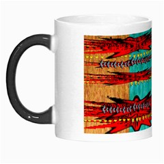 Exotic Blue Green Red And Orange Design Created By Flipstylez Designs Morph Mugs by flipstylezdes