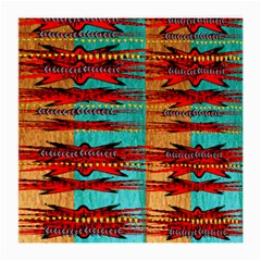 Exotic Blue Green Red And Orange Design Created By Flipstylez Designs Medium Glasses Cloth
