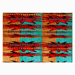 Exotic Blue Green Red And Orange Design Created By Flipstylez Designs Large Glasses Cloth