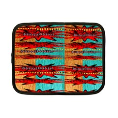 Exotic Blue Green Red And Orange Design Created By Flipstylez Designs Netbook Case (small)  by flipstylezdes