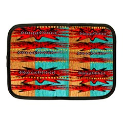 Exotic Blue Green Red And Orange Design Created By Flipstylez Designs Netbook Case (medium)  by flipstylezdes