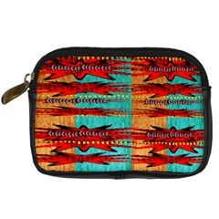 Exotic Blue Green Red And Orange Design Created By Flipstylez Designs Digital Camera Cases