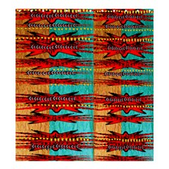 Exotic Blue Green Red And Orange Design Created By Flipstylez Designs Shower Curtain 66  X 72  (large)