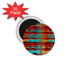 Exotic Blue Green Red And Orange Design Created By Flipstylez Designs 1 75  Magnets (10 Pack)