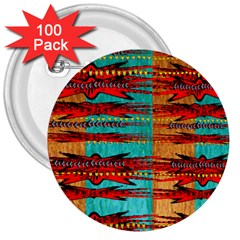 Exotic Blue Green Red And Orange Design Created By Flipstylez Designs 3  Buttons (100 Pack)  by flipstylezdes