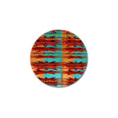 Exotic Blue Green Red And Orange Design Created By Flipstylez Designs Golf Ball Marker (10 Pack)