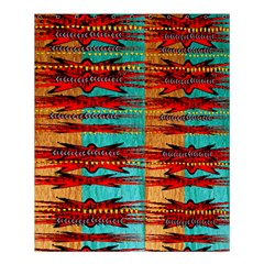 Exotic Blue Green Red And Orange Design Created By Flipstylez Designs Shower Curtain 60  X 72  (medium)