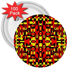 Red Black Yellow 1 3  Buttons (100 Pack)