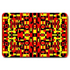 Red Black Yellow 1 Large Doormat
