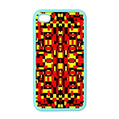 Red Black Yellow 1 Apple Iphone 4 Case (color)