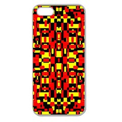 Red Black Yellow 1 Apple Seamless Iphone 5 Case (clear)